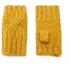 1135c597423 Forever21 Cable-Knit Fingerless Gloves (£5.11) ❤ liked on Polyvore featuring  accessories