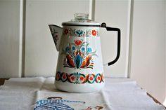 Vintage Enamelware Coffee Pot