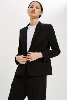 02bfba15c1 Womens Single Breasted Suit Jacket - Black. Office Dresses ...