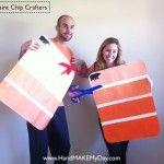 DIY Paint Chip Halloween Costumes