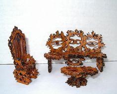 walnut shell miniature garden furniture