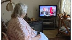 Image result for old lady watching tv