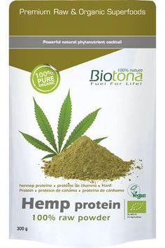 Biotona Hemp Protein 100% Raw Powder. - Hanf Protein ist eine ideale Alternative für Athleten und Kraftsportler,   die für eine proteinreiche Ernährung nach einer pflanzlichen und vollwertigen   Eiweißquelle suchen. Das zu 100% biologische Proteinpulver wird aus geschältem Hanfsamen   gewonnen, mechanisch verarbeitet und ohne Verwendung chemischer Zusätze hergestellt.