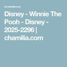 Disney - Winnie The Pooh - Disney - 2025-2296 | chamilia.com