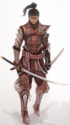 samurai finished by on Deviant Art. Character Design Inspiration, Fantasy Characters, Fantasy Races, Character Design, Character Inspiration, Character Portraits, Samurai Art, Fantasy Character Design, Art