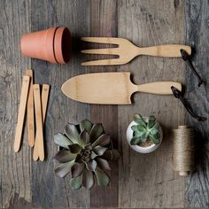 """Use healthy Bamboo Hand Tools! This reduces your plastic consumption and keeps your garden """"down to earth."""""""