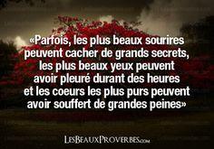 Les Beaux Proverbes – Proverbes, citations et pensées positives » » Ce qui se cache derrière