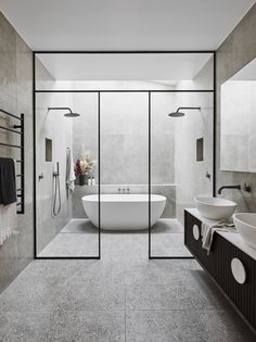 Beautiful master bathroom decor some ideas. Modern Farmhouse, Rustic Modern, Classic, light and airy bathroom design some ideas. Bathroom makeover suggestions and bathroom renovation a few ideas. Modern Small Bathrooms, Modern Bathroom Design, Beautiful Bathrooms, Bathroom Interior Design, Dream Bathrooms, Contemporary Bathrooms, Bathroom Design Layout, Modern Master Bathroom, Master Baths