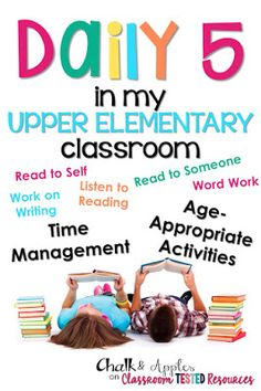 Classroom Tested Resources: Daily 5 in my Upper Elementary Classroom – Education & Career Daily 5 Reading, 6th Grade Ela, 5th Grade Classroom, Third Grade Reading, Teaching Reading, Guided Reading, Fourth Grade, Classroom Ideas, Classroom Resources