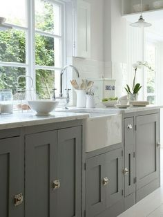 Kitchen. soothing color palette with abundant light  ADORE