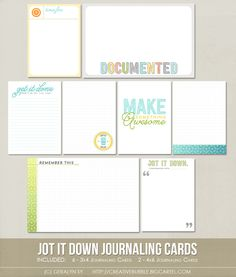 *NEW* Jot it Down Journaling Cards (Digital)