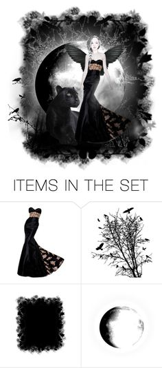 """Moonlight Enchantress"" by jennziegirl ❤ liked on Polyvore featuring art"