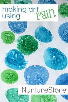 A super rainy day activity for kids: making art using rain!