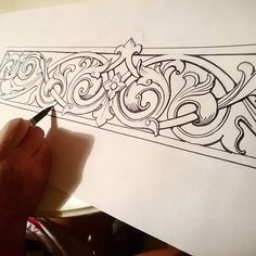 Love Drawing and Design? Finding A Career In Architecture - Drawing On Demand Diy Wings, Ornament Drawing, Carved Wood Signs, Wood Carving Designs, Acanthus, Love Drawings, Hand Engraving, Engraving Ideas, Designs To Draw
