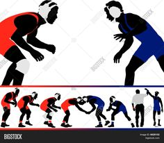 wrestling silhouette clip art bing images decorated cookies rh pinterest com