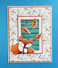 DTGD20stampersandee F3 Framed Fall Fox by jacqueline - FS713 at Splitcoaststampers Petunias, Stampin Up, Fox, Paper Crafts, Kids Rugs, Frame, Cards, Challenge