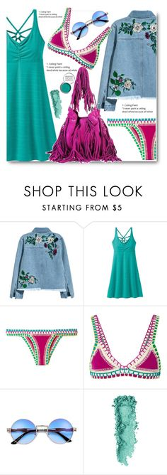 """""""Getaway Look"""" by edy321 ❤ liked on Polyvore featuring H&M, prAna, kiini and Obsessive Compulsive Cosmetics"""