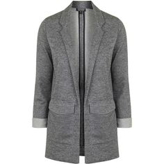 TOPSHOP Stripe Twill Utility Pocket Boyfriend Jacket (£46) ❤ liked on Polyvore featuring outerwear, jackets, blazer, monochrome, topshop, white jacket, stripe jacket, striped jacket and topshop jacket
