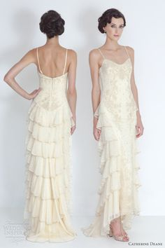 Catherine Deane 2012 Bridal Caitlin Tiered Wedding Dress Antique The Ruffle
