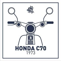 Simple classic ! #Honda #C70 #streetcub #graphicdesign #Lineart #flatdesign #sketch #draw #coreldraw #illustration #vector #vectorart #flat #artwork #vector_id by masdeff