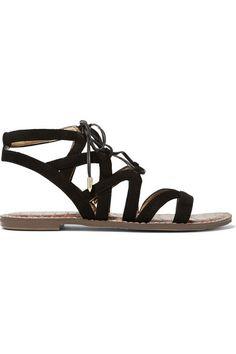 Sam Edelman | Gemma lace-up suede sandals  | NET-A-PORTER.COM