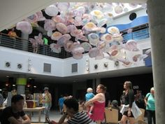 Jellyfish décor in cafeteria