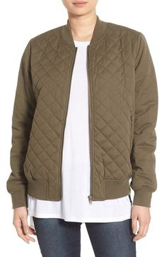 Thread & Supply Quilted Bomber Jacket