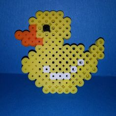 Duck perler beads by craftyourlifeout