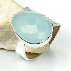'Blue Lagoon' Sterling Silver Aqua Chalcedony Ring, Size 8.5  Price : $44.75 http://www.silverplazajewelry.com/Blue-Lagoon-Sterling-Silver-Chalcedony/dp/B00EVV3YLG