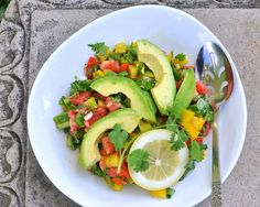 Pepper & Tomato Salad, another quick & healthy salad ♥ AVeggieVenture.com. Vegan. Low Carb. WW1.