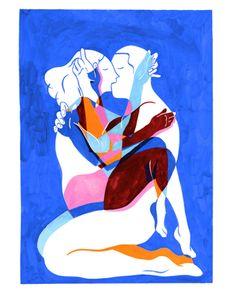 Erotismo in gocce - Le illustrazioni acquerellate di Kim Roselier