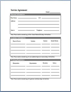 Basic Service Level Agreement Template Free