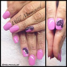 This will always be one of my fave shades of pink from @gelish_official: It's a Lily. Black lace nail tattoos from #DashingDiva. Very pretty combo! #wellmanicured #nails #gel #gelish #acrylic #pink #lace #manhattanbeach #manicure #nailartist #nailtatoos #beauty #springnails #nailart #Padgram