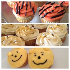 Winnie the Pooh birthday party cupcakes
