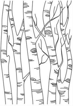 Stitch this pretty birch scene once, or repeat in a line to create a full forest. Stitch this pretty birch scene once, or repeat in a line to create a full forest…- Wood Burning Stencils, Wood Burning Crafts, Wood Burning Patterns, Wood Burning Art, Stencil Wood, Paper Embroidery, Hand Embroidery Patterns, Embroidery Designs, Geometric Embroidery