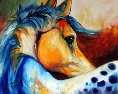 """APPALOOSA BEYOND"" by Marcia Baldwin, Shreveport, Louisiana // Original oil painting by equine artist, Marcia Baldwin // Imagekind.com -- Buy stunning fine art prints, framed prints and canvas prints directly from independent working artists and photographers."