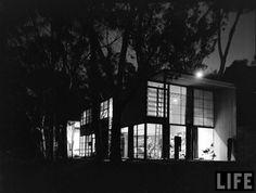TheEamesHouse is a landmark of mid-20th century modern architecture located at 203 North Chautauqua Boulevard in the Pacific Palisades neighborhood of Los Angeles. It was constructed in 1949 by husband-and-wife design pioneers Charles and RayEames, to serve as their home and studio.
