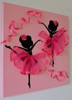 L'idea di una bella ballerina murale