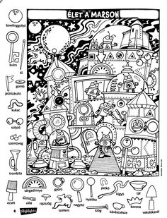 Hidden pix robots Preschool Worksheets, Kindergarten Activities, Activities For Kids, Colouring Pages, Coloring Books, Hidden Pictures Printables, Hidden Picture Puzzles, Hidden Images, Hidden Objects