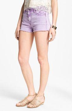 Purple high waist cutoff shorts? Yes please.