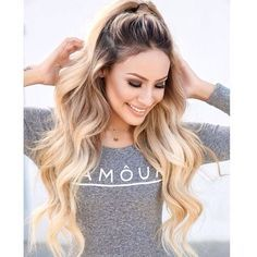 half up half down ponytail tumblr - Google Search