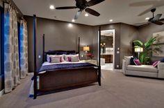 industrielle Schlafzimmer Design mit Sichtbeton und eine ...