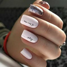 Cute and Beautiful Glitter Nail Designs Ideas For Summer Part glitter nail art; glitter nails acrylic Nails Cute and Beautiful Glitter Nail Designs Ideas For Summer Part 14 Cute Nail Colors, Cute Nails, My Nails, S And S Nails, Shellac Nails, Prom Nails, Acrylic Nails, Cute Nail Art Designs, Nail Polish Designs