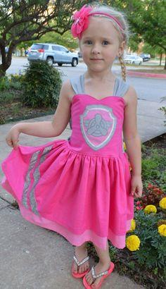 Pink Skye paw patrol costume party dress