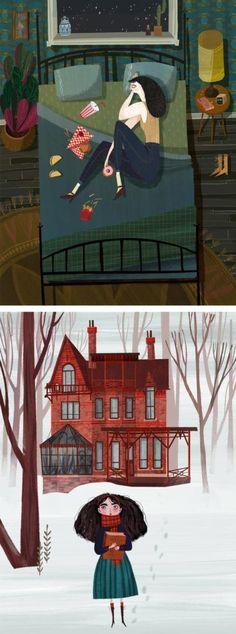 Storytelling illustrations by Chloe Bristol | storybook illustration | narrative illustration