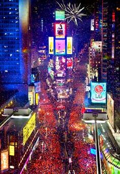 Watch the ball drop in Times Square and experience New Years Eve in New York City! :)