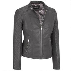 Black Rivet Faux-Leather Center Zip Scuba w/Quilted Sleeves  #Win #Giveaway #WLDreamFallWardrobe