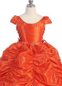 Orange Gorgeous Princess Girl Dress