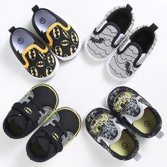 3d0ebd74 Moda Zapatos de Bebé Niños Niño de Dibujos Animados de Lona Batman Niños  Calzado Zapatillas de