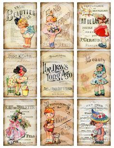 vintage collage sheet